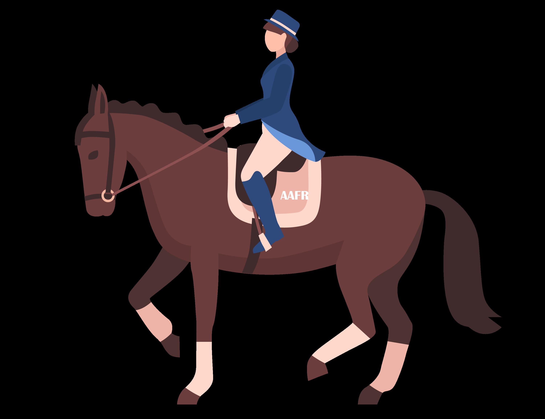 Illustration d'un cavalier sur son cheval